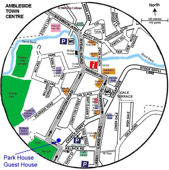 Ambleside Car Park Map